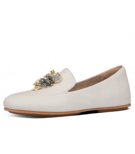 Lena Under The Sea Leather Loafers Womens