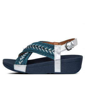 Mallory Metallic Weave Back-Strap Sandals Womens