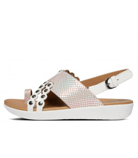 Scallop Exotic Back-Strap Sandals Womens